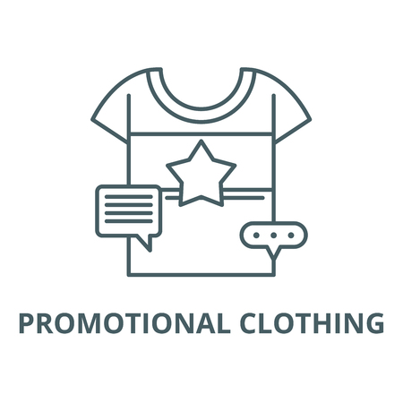 Promotional clothing vector line icon, outline concept, linear sign Illustration