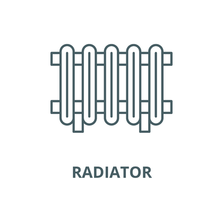 Radiator vector line icon, outline concept, linear sign Illustration