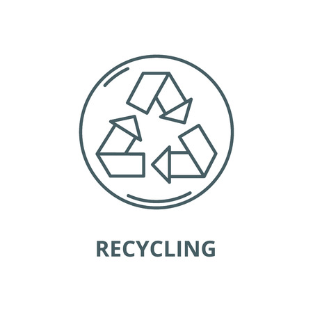 Recycling vector line icon, outline concept, linear sign