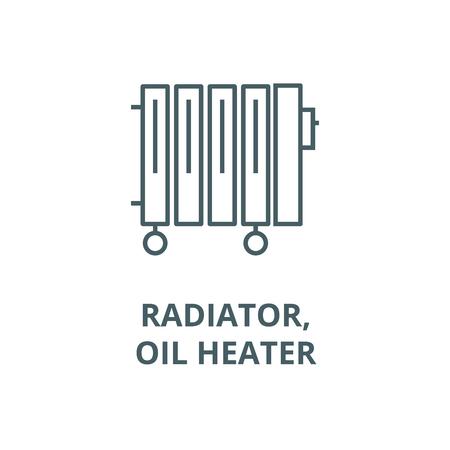 Radiator,oil heater vector line icon, outline concept, linear sign Standard-Bild - 122348384