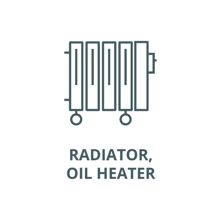 Radiator,oil heater vector line icon, outline concept, linear sign
