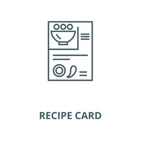 Recipe card vector line icon, outline concept, linear sign