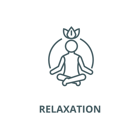 Relaxation  vector line icon, outline concept, linear sign