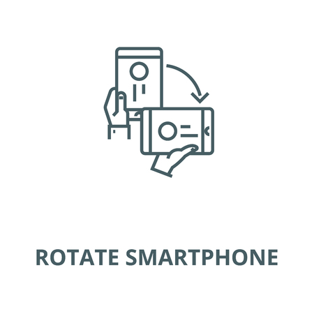 Rotate smartphone vector line icon, outline concept, linear sign Illustration