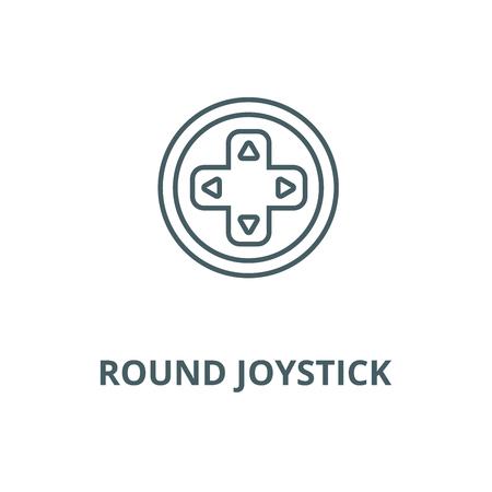 Round joystick  vector line icon, outline concept, linear sign Illustration