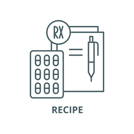 Recipe vector line icon, outline concept, linear sign