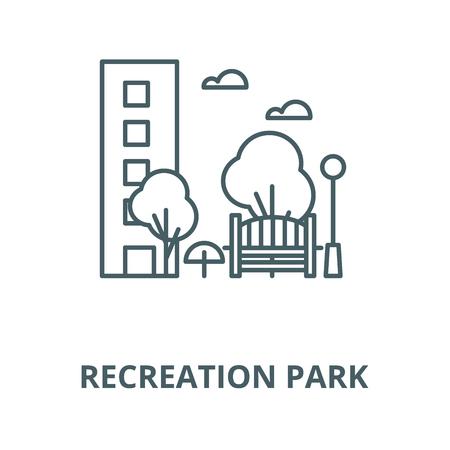 Recreation park vector line icon, outline concept, linear sign Illustration