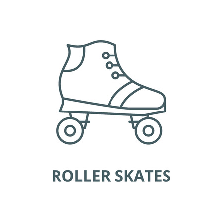 Roller skates vector line icon, outline concept, linear sign