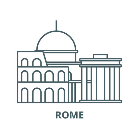 Rome vector line icon, outline concept, linear sign