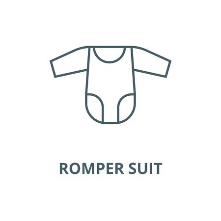 Romper suit vector line icon, outline concept, linear sign Banque d'images - 122348507
