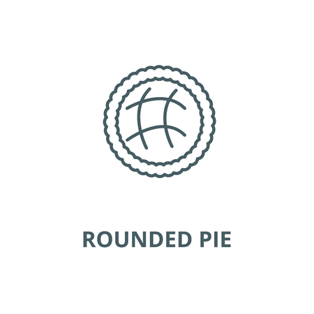 Rounded pie  vector line icon, outline concept, linear sign Illustration
