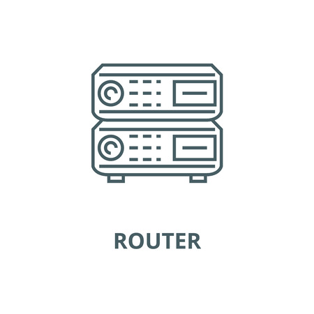 Router vector line icon, outline concept, linear sign