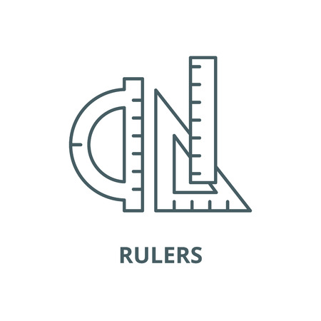 Rulers vector line icon, outline concept, linear sign