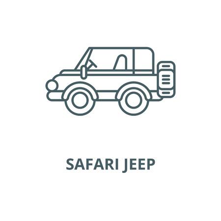 Safari jeep vector line icon, outline concept, linear sign