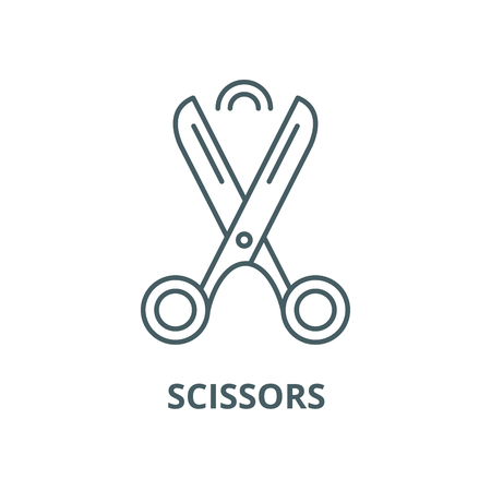 Scissors vector line icon, outline concept, linear sign