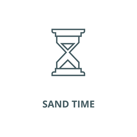 Sand time vector line icon, outline concept, linear sign