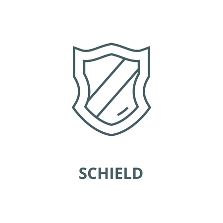 Schield vector line icon, outline concept, linear sign