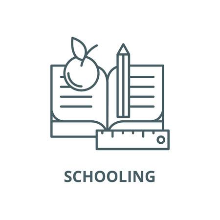 Schooling vector line icon, outline concept, linear sign Ilustração
