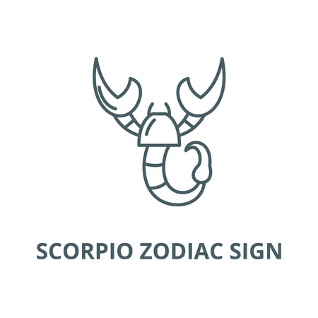 Scorpio zodiac sign vector line icon, outline concept, linear sign