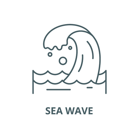 Sea wave vector line icon, outline concept, linear sign