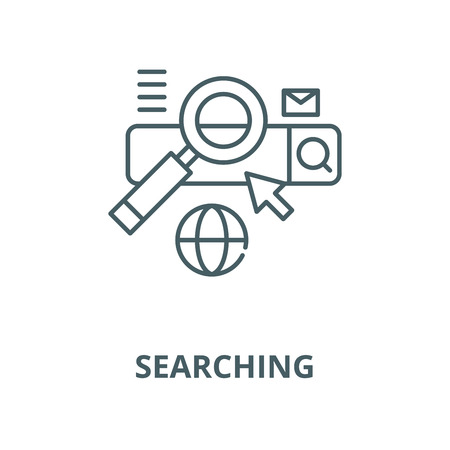 Searching vector line icon, outline concept, linear sign Illustration