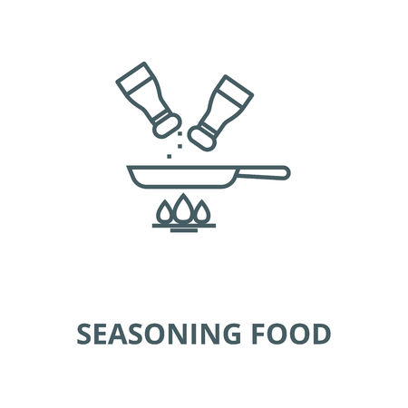 Seasoning food vector line icon, outline concept, linear sign