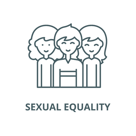Sexual equality vector line icon, outline concept, linear sign
