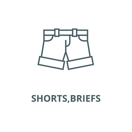 Shorts,briefs vector line icon, outline concept, linear sign Illustration