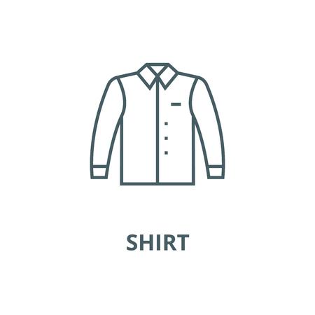 Shirt vector line icon, outline concept, linear sign Standard-Bild - 122286528