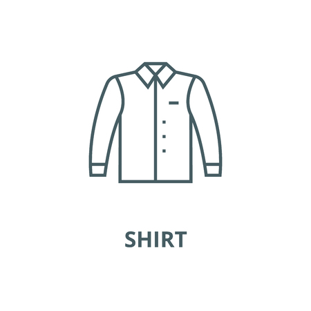 Shirt vector line icon, outline concept, linear sign