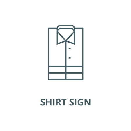 Shirt sign vector line icon, outline concept, linear sign 矢量图像