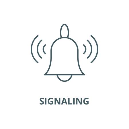 Signaling vector line icon, outline concept, linear sign Ilustração