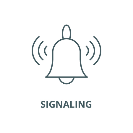 Signaling vector line icon, outline concept, linear sign Illustration