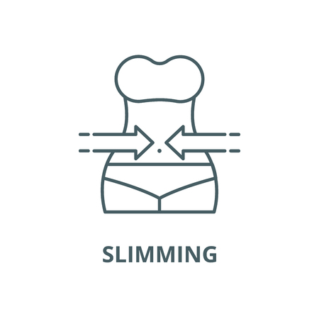 Slimming vector line icon, outline concept, linear sign