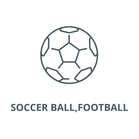 Soccer ball,football vector line icon, outline concept, linear sign