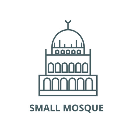 Small mosque  vector line icon, outline concept, linear sign