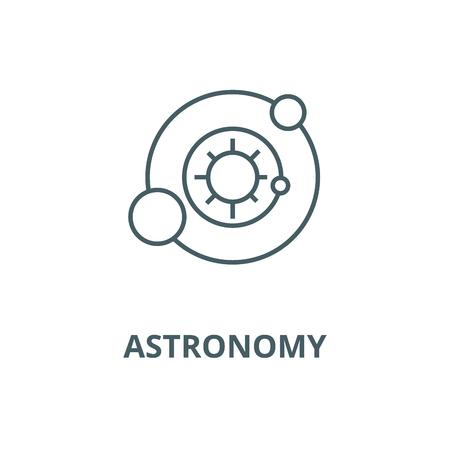 Solar system,astronomy vector line icon, outline concept, linear sign Ilustração
