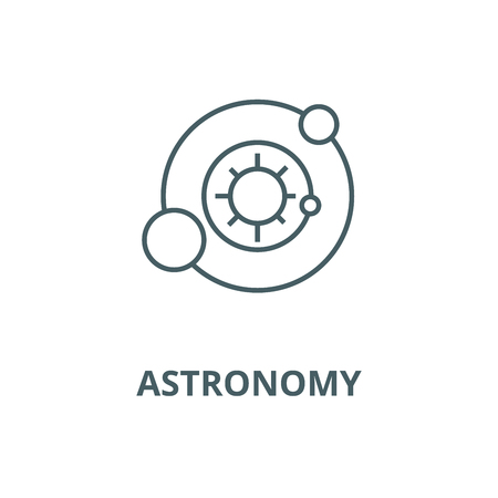 Solar system,astronomy vector line icon, outline concept, linear sign Illustration