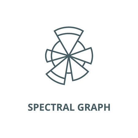 Spectral graph vector line icon, outline concept, linear sign