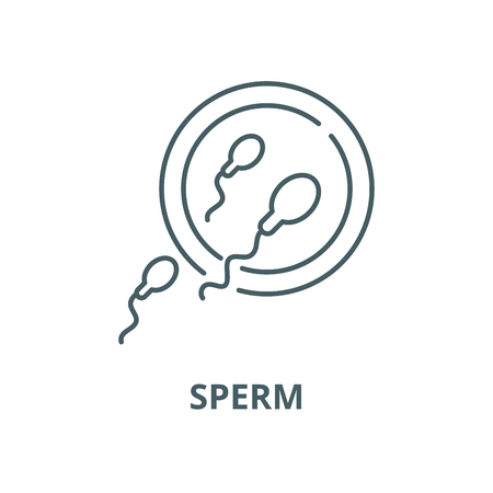 Sperm vector line icon, outline concept, linear sign Illustration