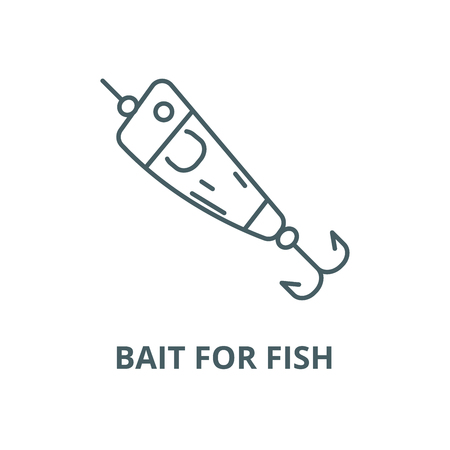 Spoon fishing,bait for fish vector line icon, outline concept, linear sign