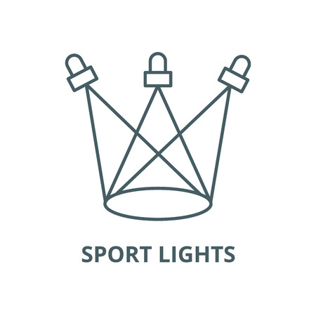 Sport lights vector line icon, outline concept, linear sign