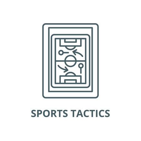Sports tactics vector line icon, outline concept, linear sign