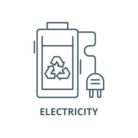 Eco electricity vector line icon, outline concept, linear sign Standard-Bild - 122287070