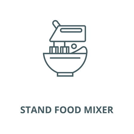 Stand food mixer vector line icon, outline concept, linear sign