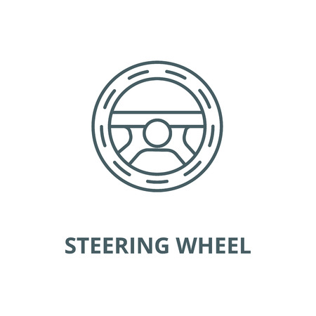 Steering wheel,driving vector line icon, outline concept, linear sign