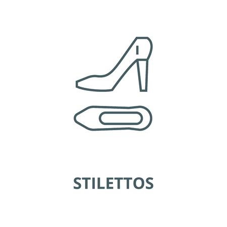 Stilettos vector line icon, outline concept, linear sign 일러스트