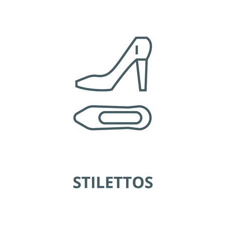 Stilettos vector line icon, outline concept, linear sign Illustration
