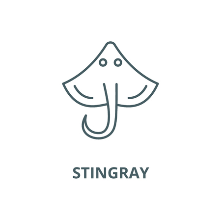 Stingray vector line icon, outline concept, linear sign Illustration