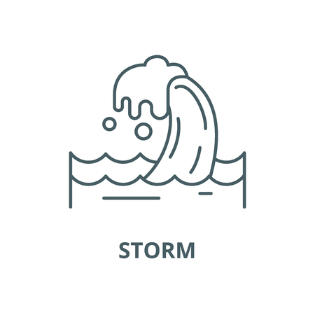 Storm vector line icon, outline concept, linear sign 版權商用圖片 - 122348981